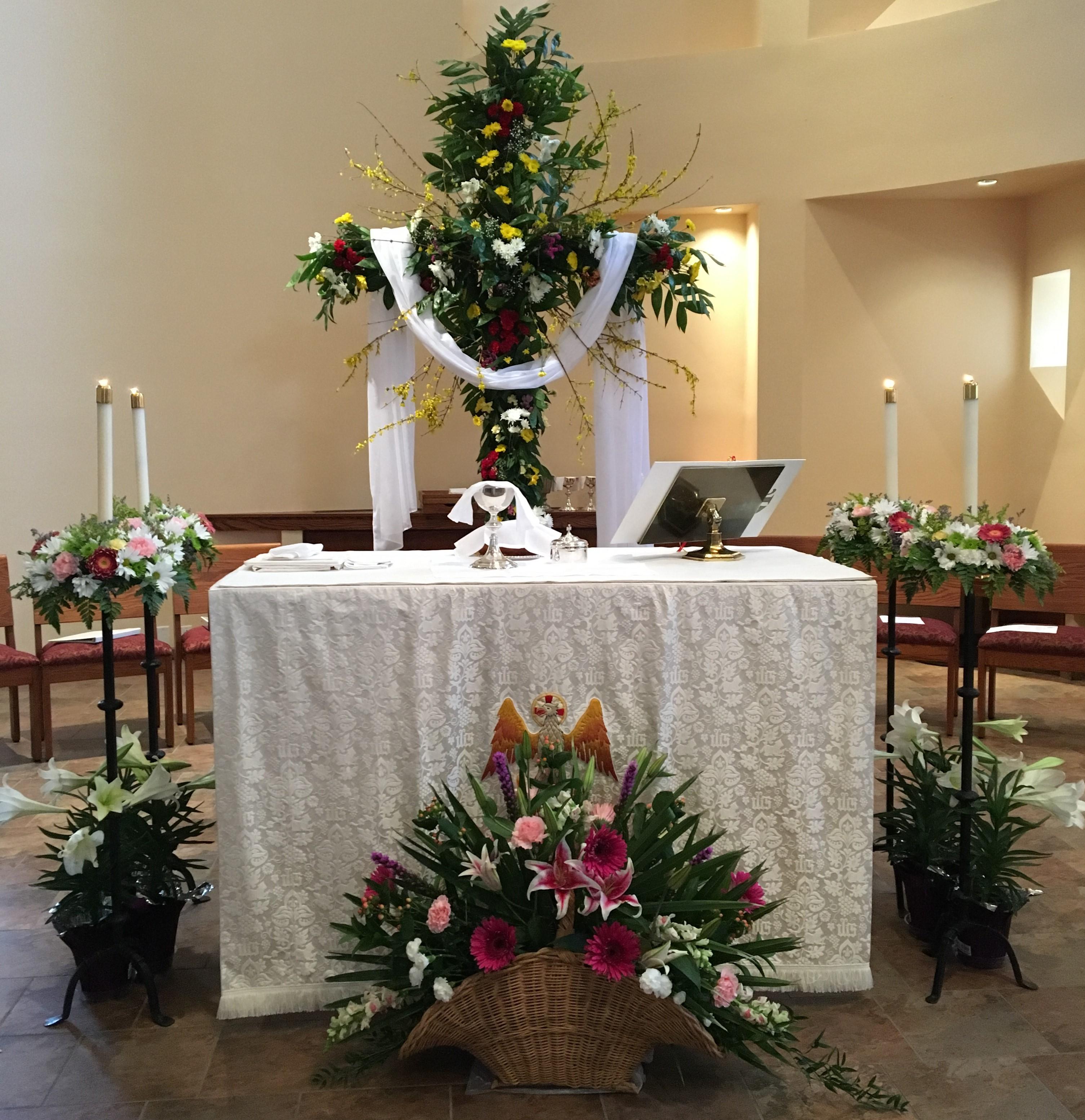 Easter alter horizontal